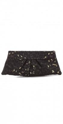 wedding photo - Eve Leopard Brocade Clutch