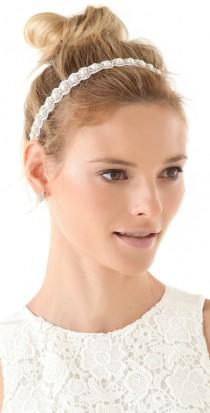 wedding photo - Handmade Swarovski Crystal & Pearls Wedding Headband