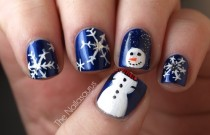 wedding photo - Bonhomme de neige et flocons de neige ♥ Nail Design Creative Nail Design & Art