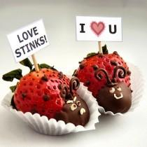 wedding photo - Gourmet Chocolate-Dipped Ladybug Strawberries for Christmas or Valentine's Day ♥ Wedding Strawberry Love Bugs