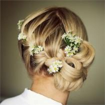 wedding photo -  Unique  Wedding Braided Side Updo Hairstyle