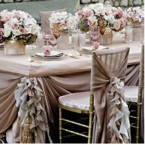 wedding photo - Pale Pink Ruffled Wedding Table Design ♥ Dream Wedding Decorations