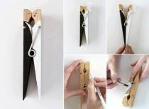 wedding photo - DIY Wedding Favor Made From Peg ♥ Handmade Bride And Groom Cothespin