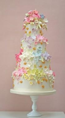 wedding photo - Rosalind Miller Bees and Blossoms Wedding Cake ♥ Best Wedding Cakes