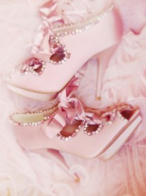 wedding photo - Gorgeous Pink Platform Dream Wedding Shoes