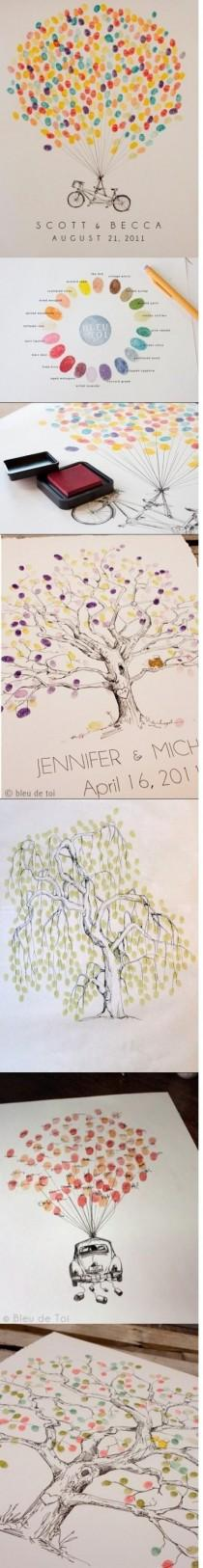 wedding photo - Unique and Creative Wedding Guestbook Fingerprint Ideas