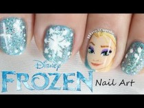wedding photo - Frozen Nail Art - Elsa