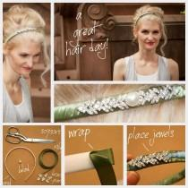 wedding photo - DIY DIY Stirnband Haarschmuck