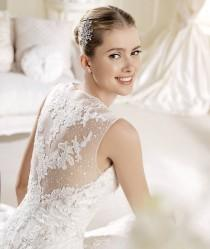 wedding photo -  Romantic Sweetheart and Lace Back La Sposa Bridal Gown Idoia By Pronovias