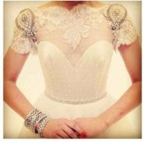 wedding photo - Lacey High Neck Wedding Dress