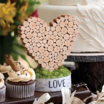 wedding photo - Hortense Rustic Heart Love Wedding Table Decor Decoration
