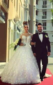 wedding photo - 2015 New Long-sleeved Lace Wedding Dress Custom Wedding 4 6 8 10 12 14 16
