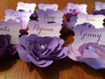 wedding photo - Paper flower escort / place cards