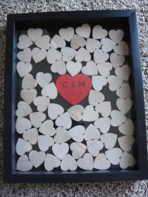 wedding photo - Unique Wedding Guestbook and Heart Guestbook