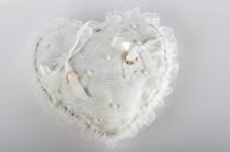 wedding photo - Wedding Ring Pillow - Ring Bearer Pillow - Bridal Ring Pillow - Wedding Accessories - Bridal Accessories - White Ring Pillow - New