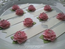 wedding photo - Paper Flower Place Cards - Escort Cards - Pink - Weddings - Table Decorations - Set of 100 - Made To Order - New
