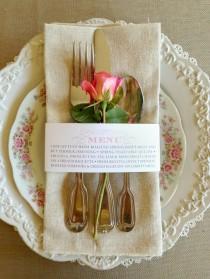 c22670e81 50 Stk - Hochzeit Menü Serviette Wraps, anpassbare & günstig - New