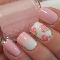 wedding photo - 50 Pink Nail Art Designs