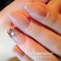 wedding photo - ヌーディーカラーのシンプル花嫁ネイルカタログ!