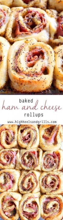 wedding photo - Baked Ham And Cheese Rollups