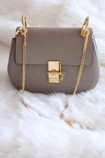 wedding photo - New In: Chloe Drew Bag In Grey - Small, Leather, Gold Hardwear