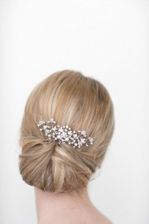 wedding photo - Wedding Hair Comb, Bridal Head Piece, Crystal And Pearl Hair Comb, Wedding Hair Accessory