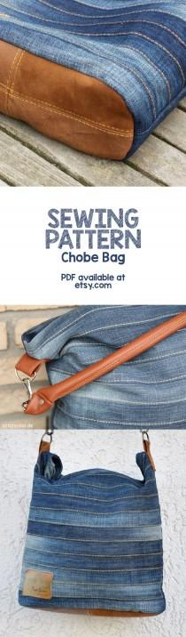 "wedding photo - Sewing Pattern For The Stylish ""Chobe"" Hand Bag - Ideal For Upcycling An Old Pair Of Jeans"