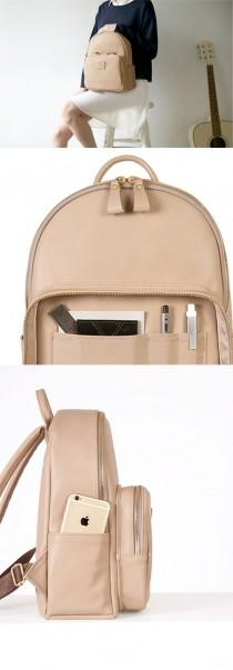 wedding photo - Square Mini Office Leather Backpack
