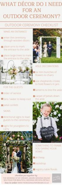 wedding photo - Outdoor Wedding Ceremony Decorations – Checklist