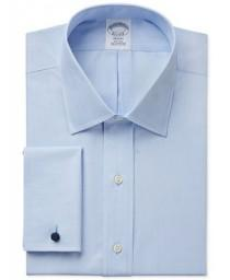 wedding photo - Brooks Brothers Brooks Brothers Regent Classic-Fit Non-Iron Solid French Cuff Dress Shirt