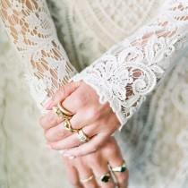 wedding photo - Net Embroidered Dress