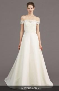 wedding photo - Amsale Tilden Lace & Silk Blend Gown (In Stores Only)