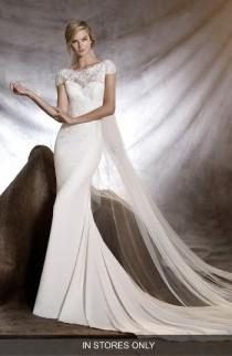 wedding photo - Pronovias Onesi Crepe Gown (In Stores Only)
