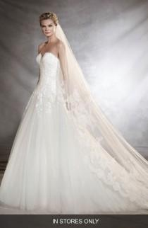 wedding photo - Pronovias Oblea Strapless Tulle Gown (In Stores Only)