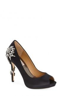 wedding photo - Badgley Mischka 'Royal' Crystal Embellished Peeptoe Pump (Women)