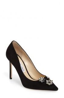 wedding photo - Jimmy Choo Jasmine Crystal Brooch Embellished Pump