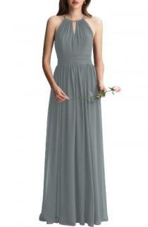 wedding photo - Keyhole Chiffon A-Line Gown