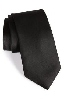 wedding photo - Nordstrom Men's Shop Solid Satin Silk Tie