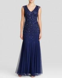 wedding photo - Aidan Mattox Gown - Sleeveless V-Neck Beaded