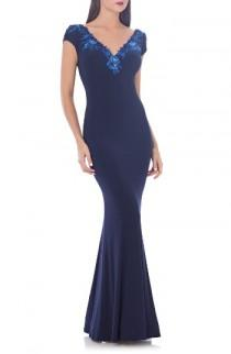 wedding photo - JS Collections Jersey Mermaid Gown