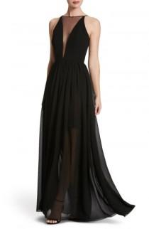 wedding photo - Dress the Population Patricia Illusion Gown