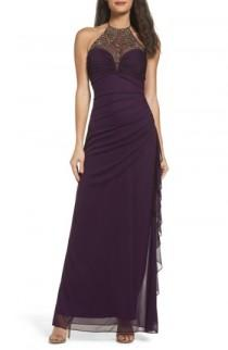 wedding photo - Blondie Nights Embellished Halter Gown