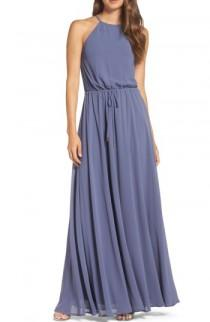 wedding photo - Lulus Be Mellow Cutaway Shoulder Chiffon Gown