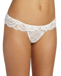 wedding photo - Marry Me Lace Thong, White