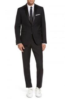 wedding photo - Calibrate Trim Fit Wool Blend Tuxedo