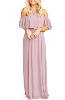 wedding photo - Show Me Your Mumu Rebecca Off the Shoulder Chiffon Gown