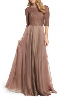 wedding photo - La Femme Embellished Bodice Gown