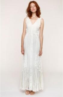 wedding photo - Heartloom Felix Cutout Back Lace Fit & Flare Dress