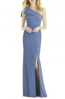 wedding photo - After Six Bow One-Shoulder Gown