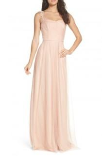 wedding photo - Monique Lhuillier Bridesmaids Violetta Tulle Gown (Nordstrom Exclusive)